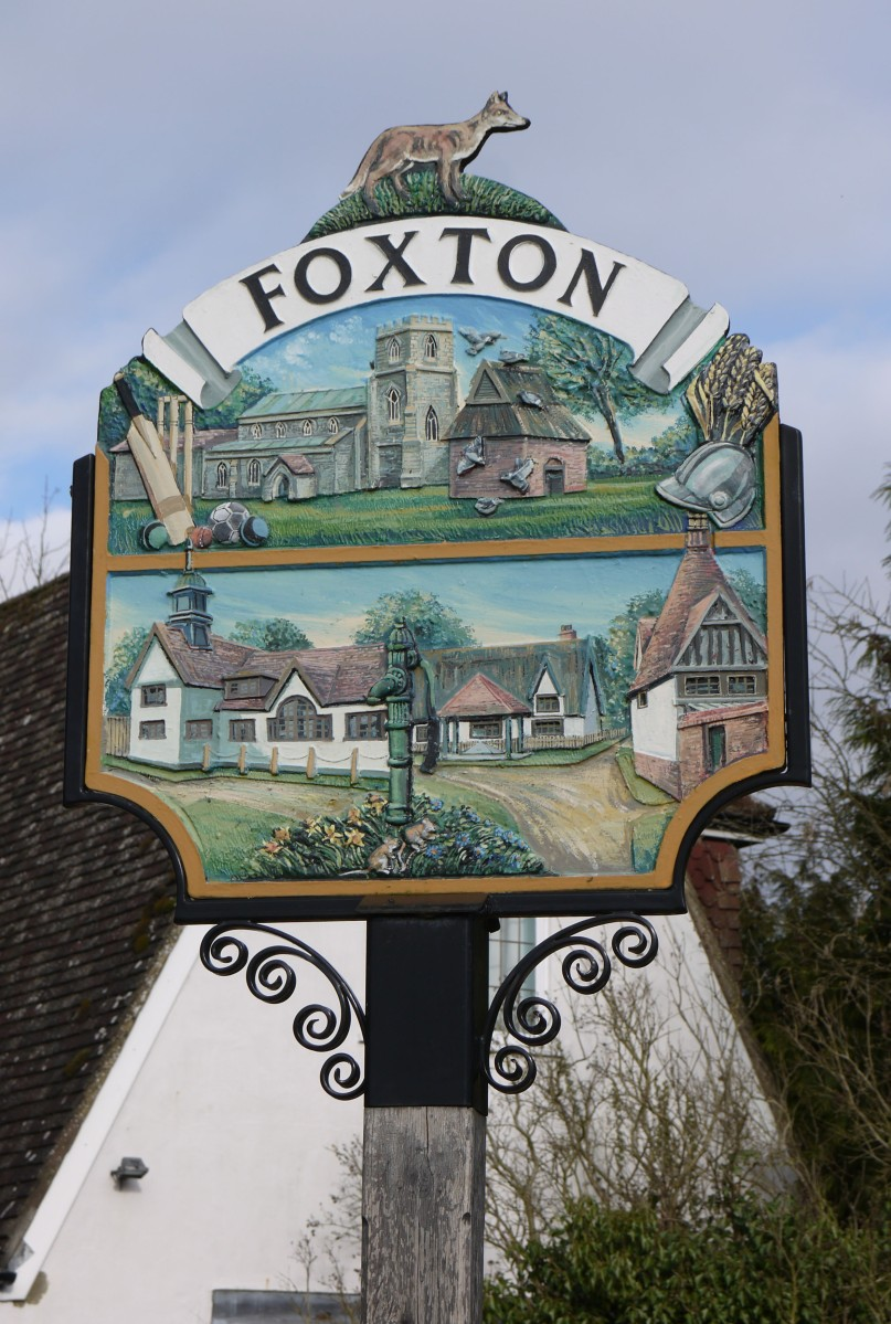 Photo of Foxton Village Sign