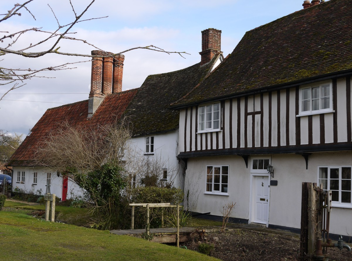Photo of old houses in Foxton