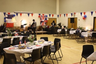 Village Hall ready for the Soirée