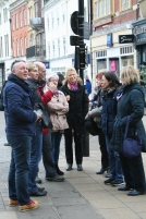 Photo of the group in Cambridge Market Place.