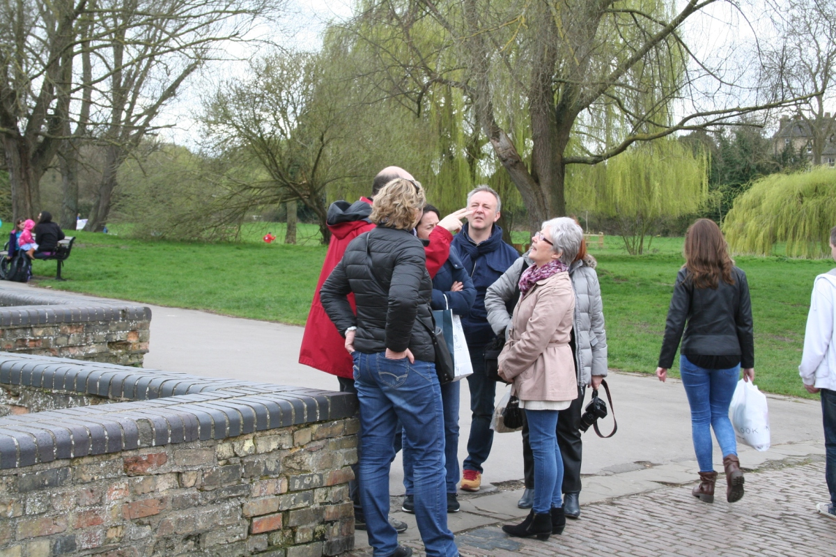 Photo of the Cambridge tour at the Mill Pond.