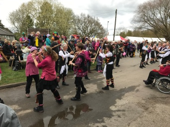 Photo of Molly dancing at Thriplow Daffodil Festival.