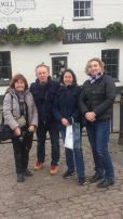 Photo of Montigny Committee outside the Mill Pub