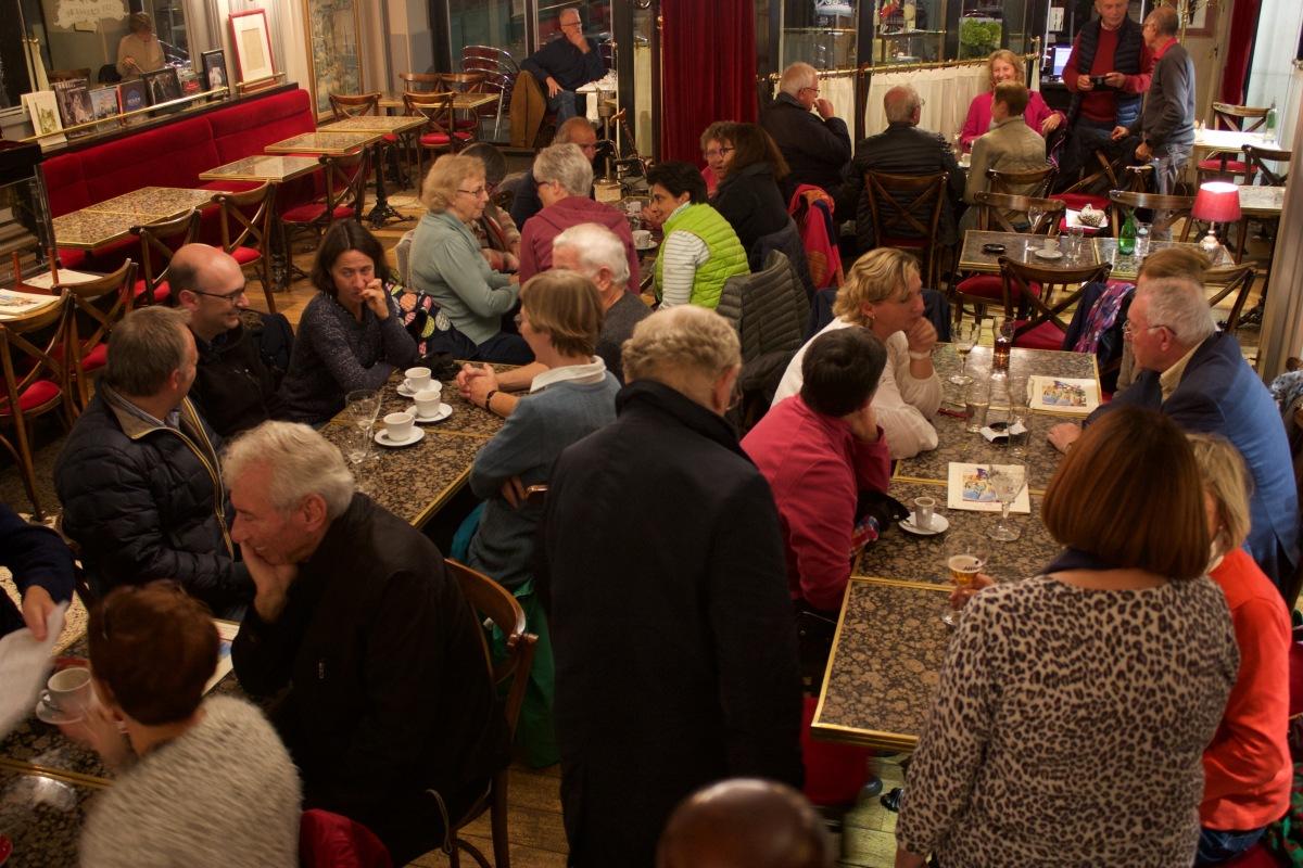 A nightcap a Café Paul after the light show.
