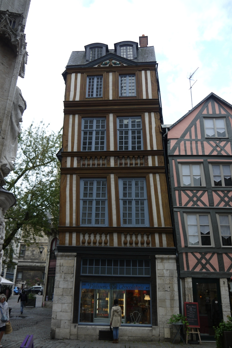 Medieval buildings abound in Rouen.